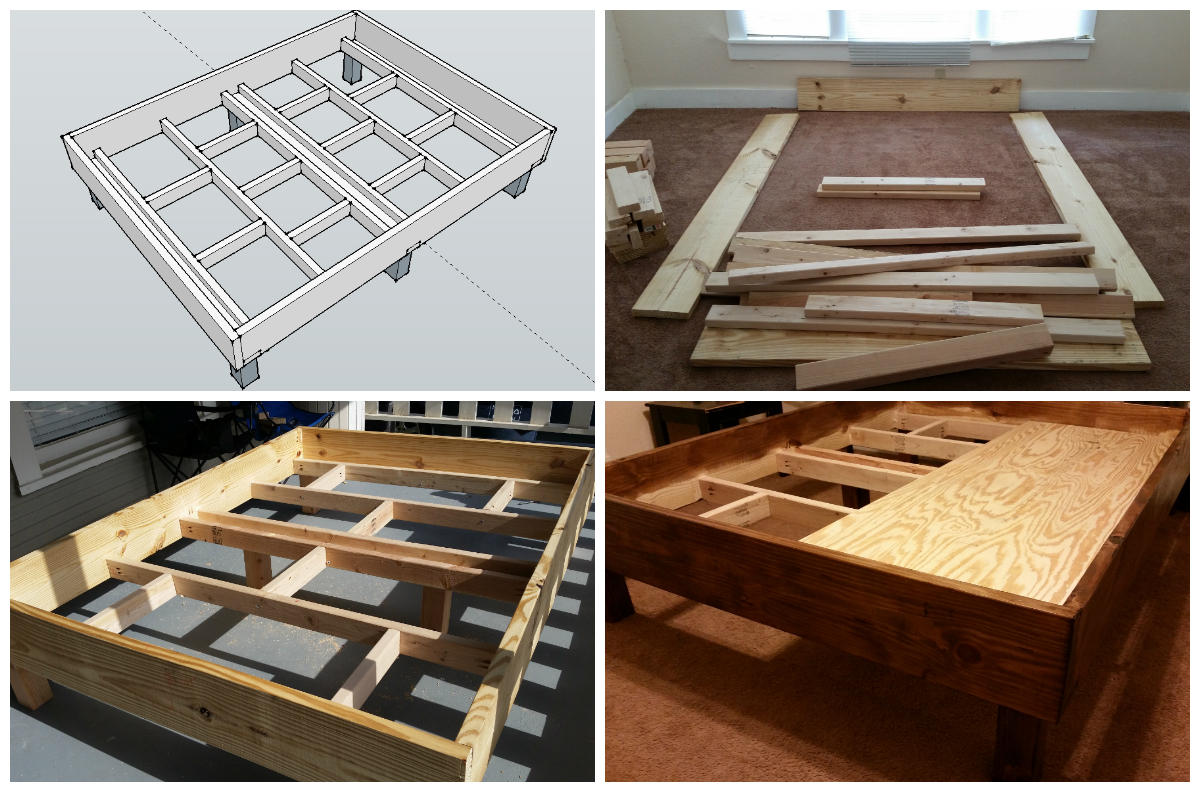 My first diy project rustic style bed frame design Rustic bed frames
